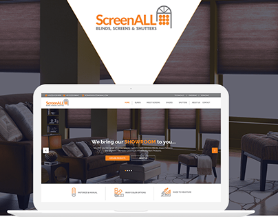 Web UI Design for ScreeAll in Photoshop