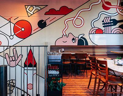 Bavet — Restaurant Mural