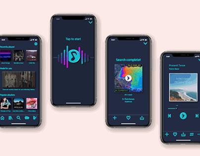 Audiosounz Neumorphic Music App - UI Project