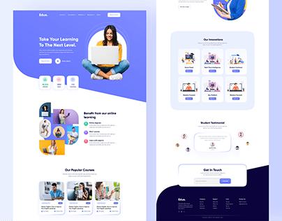 Eduo- Online Education Website design