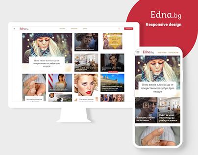 Edna.bg - Women's news UI / UX Concept