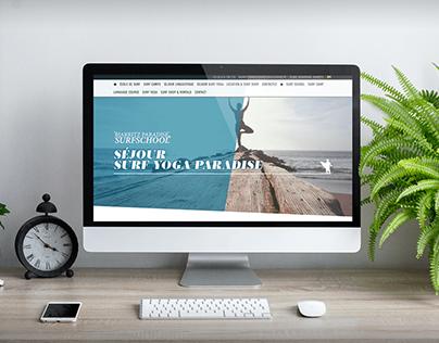 CONCEPTION & AJOUT PAGE WEB // BIARRITZ PARADISE