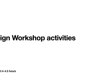 A design workshop activities for Fintech topic
