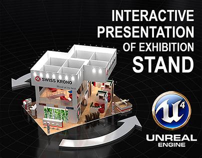 Interactive Presentation of exhibition stand.