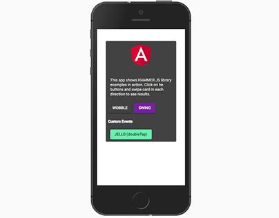 HammerJS in Angular App - examples