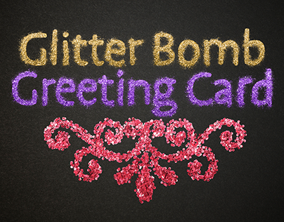 Glitter Bomb Greeting Card Video