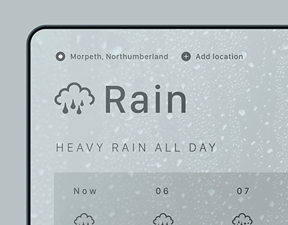 Experimental Weather Interface