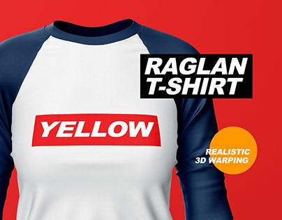 Raglan T-Shirt Mockup