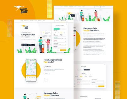 Kangaroo Cabs Web Design