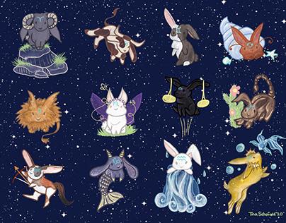 Zodiac Bunnies