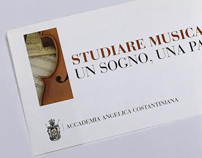 Flyer Dipartimento di Musica - Accademia Angelica C.