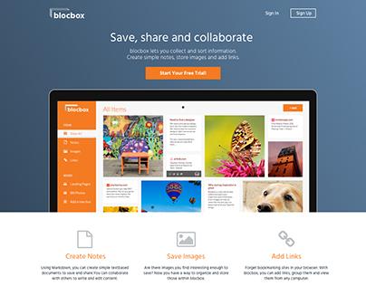 blocbox web app - UI/UX