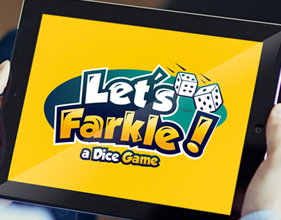 playful logo for a dice game