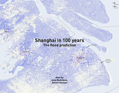 Shanghai in 100 years. The flood prediction
