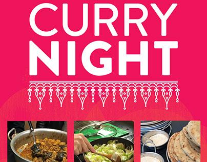 Curry Night Poster - Sheikh Nazim Helping Hands