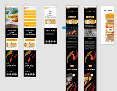 Spiro Spice Spinner Mobile Pages