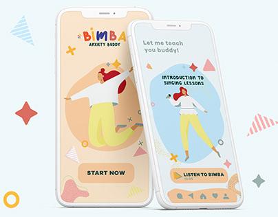 BIMBA: Anxiety Buddy Apps Concept