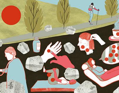 Editorial illustration – article on chronic pain
