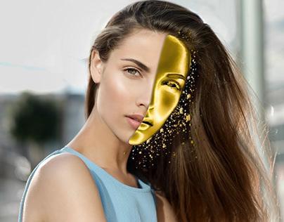Gold Portrait Effect Photoshop Tutorial