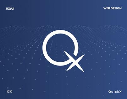 Quickx - ico website & visual data presentation design
