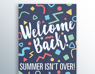 University Bookstore - Welcome Back Poster