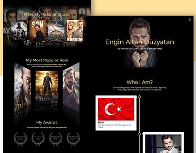Responsive Biography Website