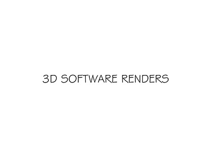 3D Software Renders