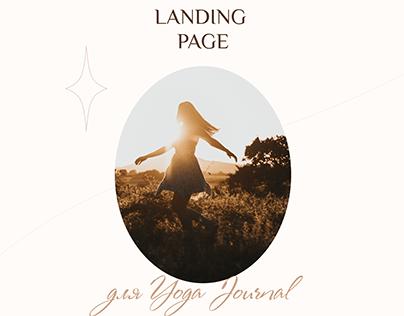 Лендинг для Yoga Journal