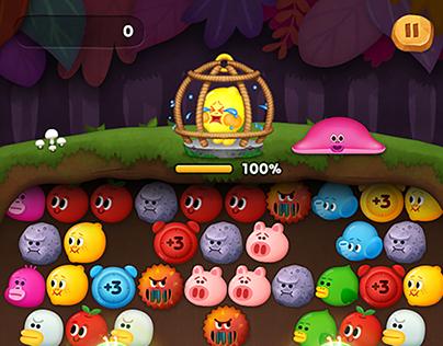Line Bubble2 - Secret mode / Game UI Design
