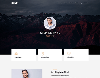 Sterk Personal - Creative Agency & Personal Template