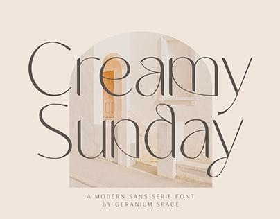 Creamy Sunday - Modern Sans
