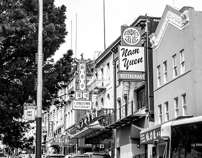 Chinatown Black and White Photography