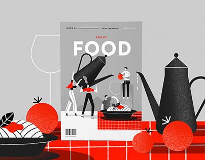 Editorial Food Illustration #02