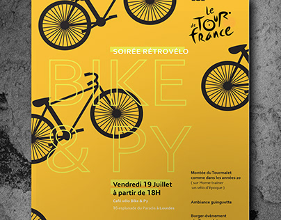BIKE'S PARTY ADVERTISING // Le tour de France