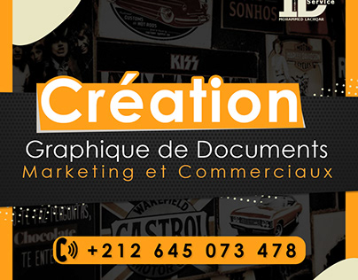 creation des documents commerciaux et marketing