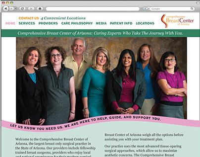 Comprehensive Breast Center of Arizona Web Design