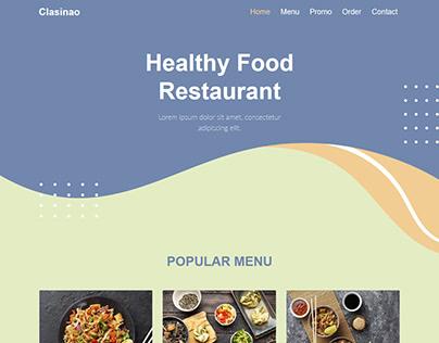 Clasinao - Restaurant Landing Page
