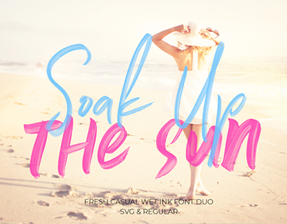 Soak Up The Sun Font Duo + SVG