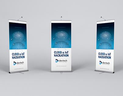 Brand design : CLOUD & IoT HACKATHON - DEVTECH
