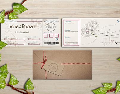 Invitacionees de boda con sello personalizado