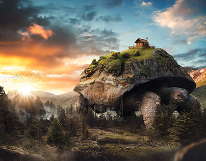 The Turtle | Matte Painting