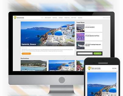 Travel Magazine - UI/UX and Wordpress Development