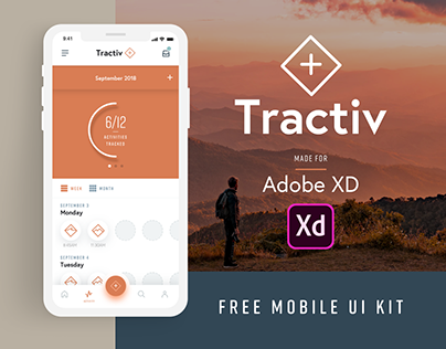 Tractiv UI Kit for Adobe XD