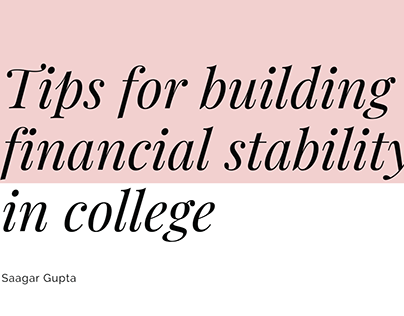 tips for building financial stability in college