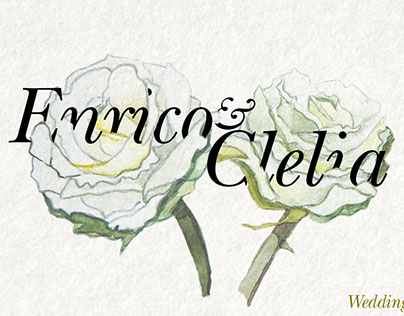 E&C Wedding day, watercolors flowers