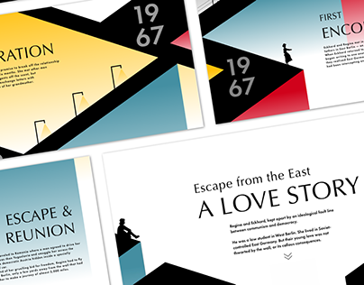 Escape from East: A LOVE STORY (Timeline Web Design)