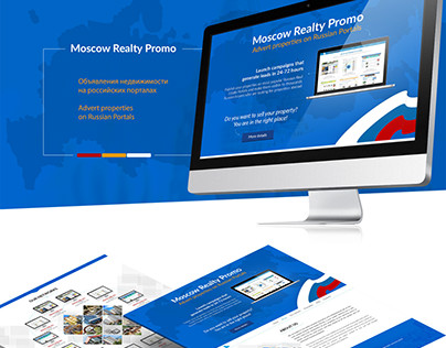 Landing page for Moscow Realty Promo