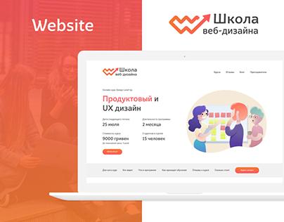 Online Web School Design - UX/ UI Marketing materials