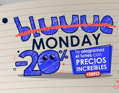 """""""BLUE MONDAY"""" DISEÑO DE GRÁFICAS PARA CAMPAÑA"""