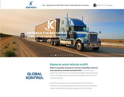 Kontrola website design